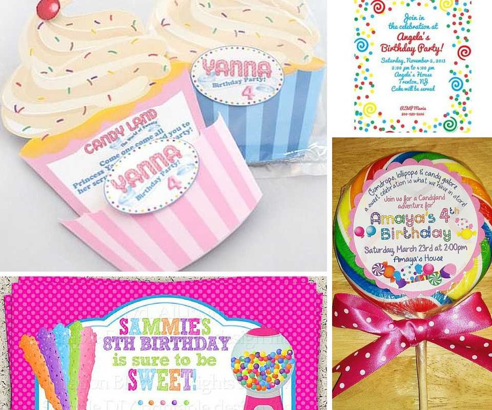 Candyland Party Invitations gangcraftnet – Kids Party Invitation Ideas