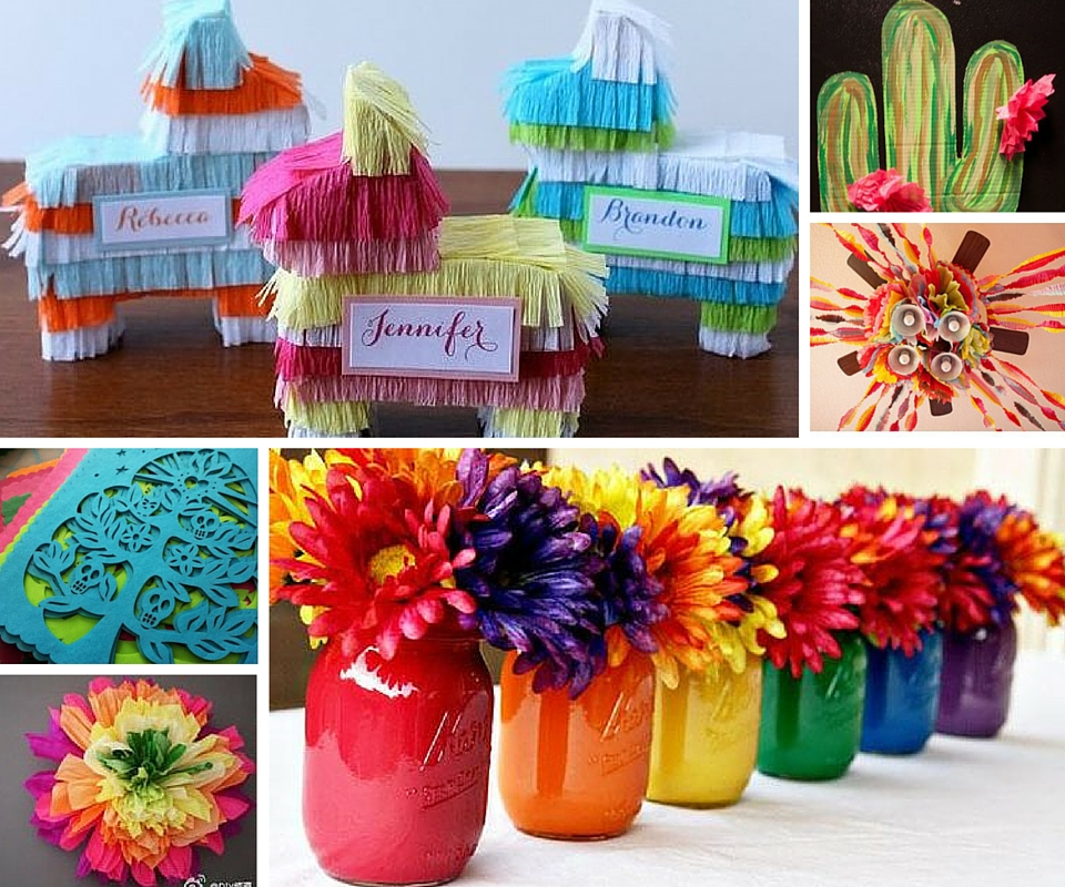 Mexican fiesta party ideas kids party ideas at birthday - Decoration table pour invites ...