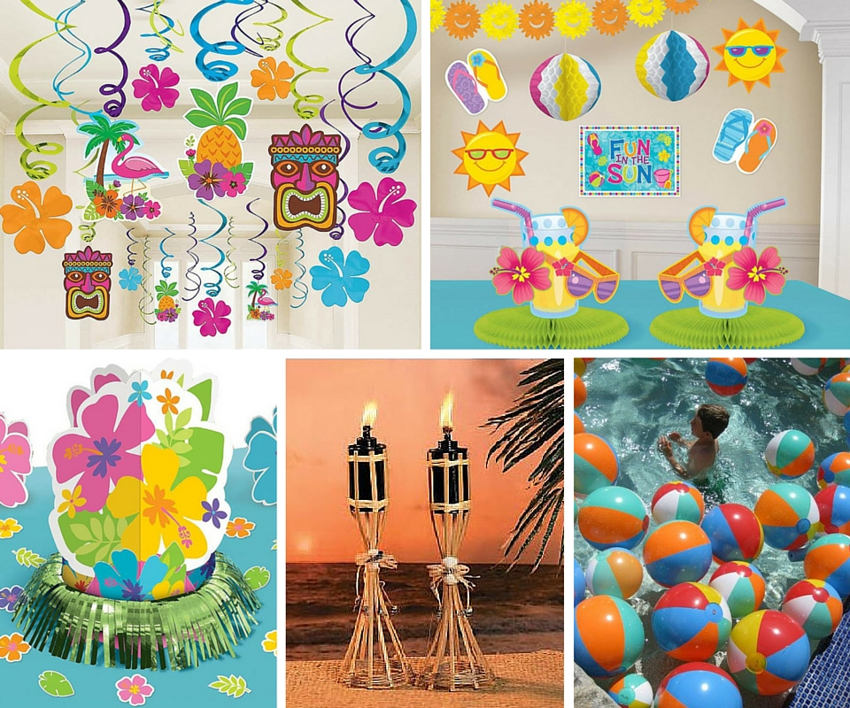 Hawaiian Decor Aloha Style Tropical Home Decorating Ideas: Summer Party Ideas At Birthday In A Box