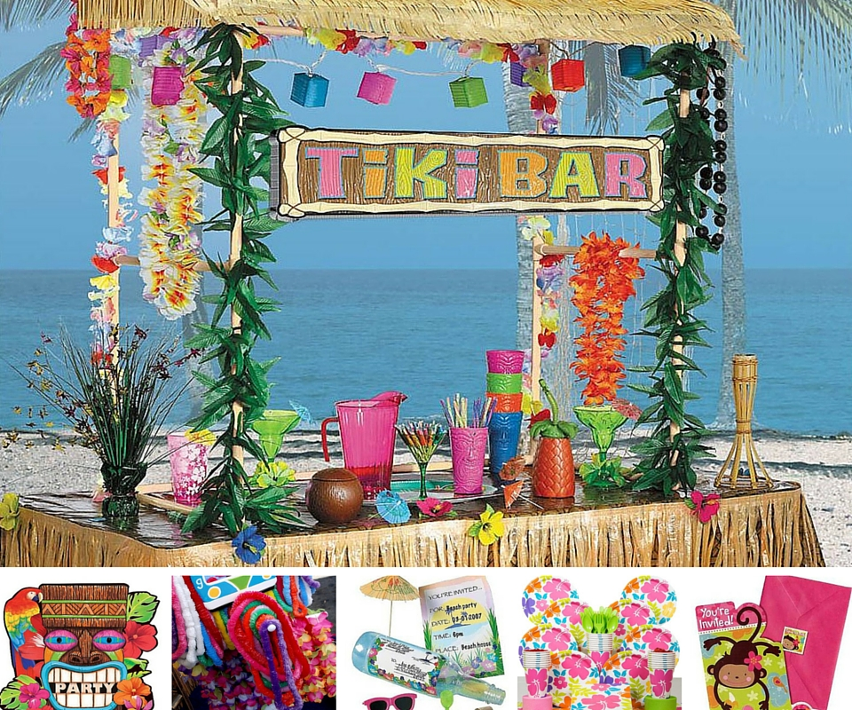 Luau party ideas summer party ideas at birthday in a box for Hawaiin decorations