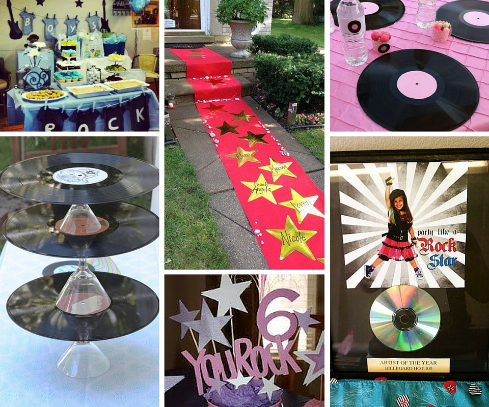 Rock star party ideas rock and roll party ideas at birthday in a box - Rock and roll theme party decorations ...