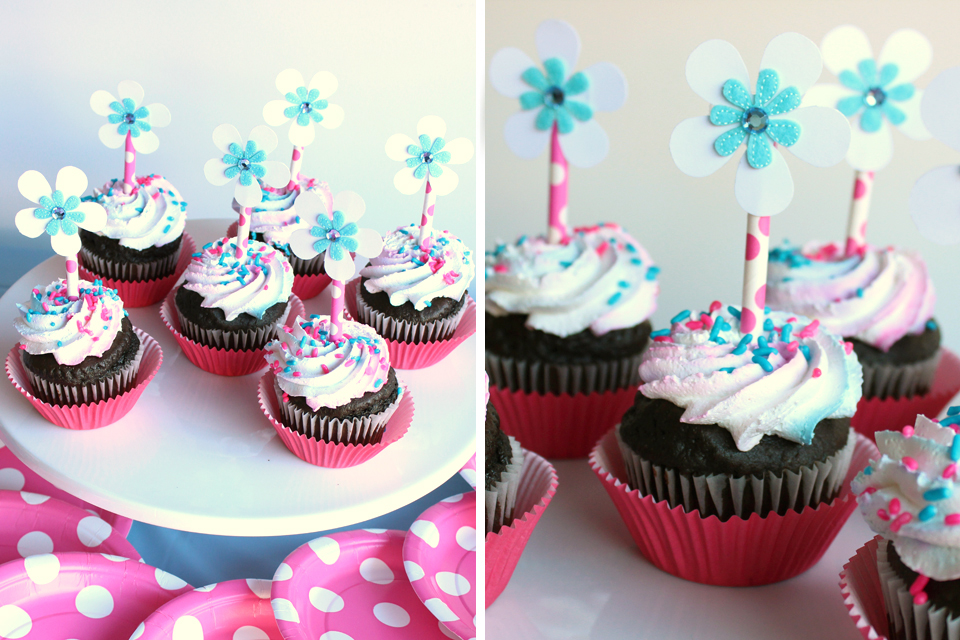 SpaPartyStrawCupcakeToppers