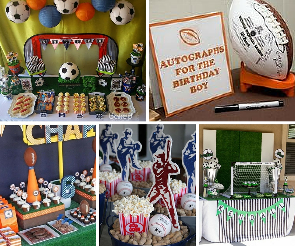 Decorating Food Ideas Sports Party Decor