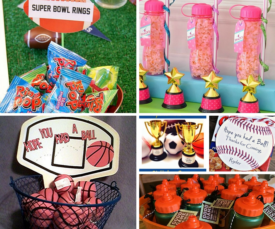Party Favor Ideas Sports Favors