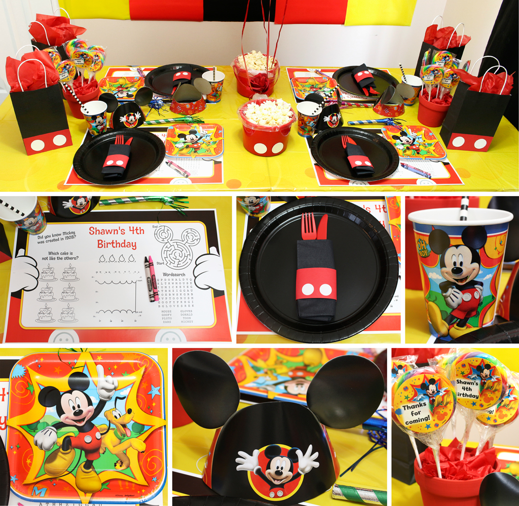 Mickey Mouse Party Mickeys Clubhouse Party at Birthday in a Box