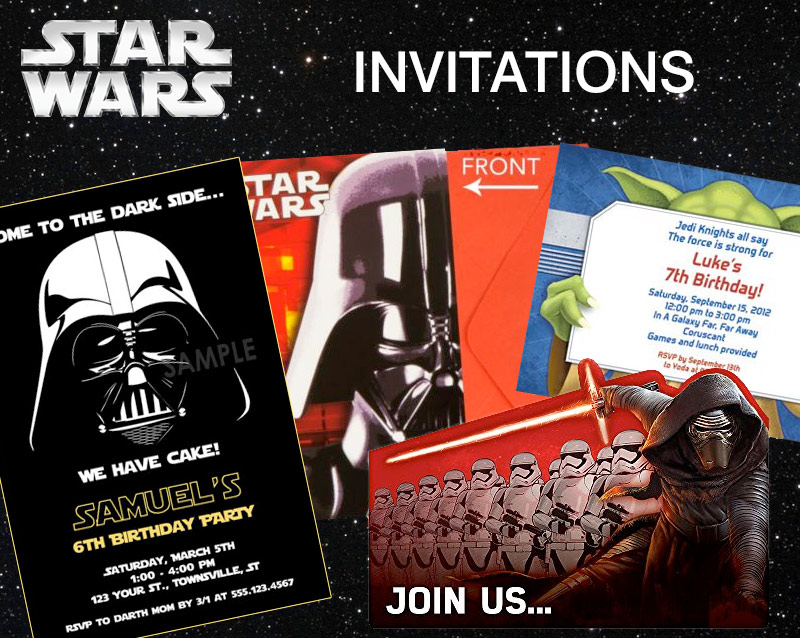Star Wars Party Ideas Birthday In A Box - Star wars birthday invitation diy