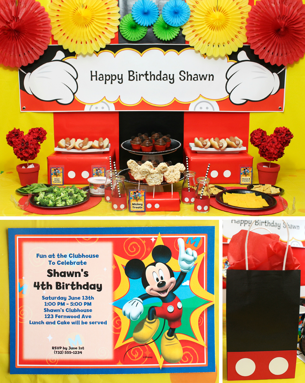 Mickey Party Invitations