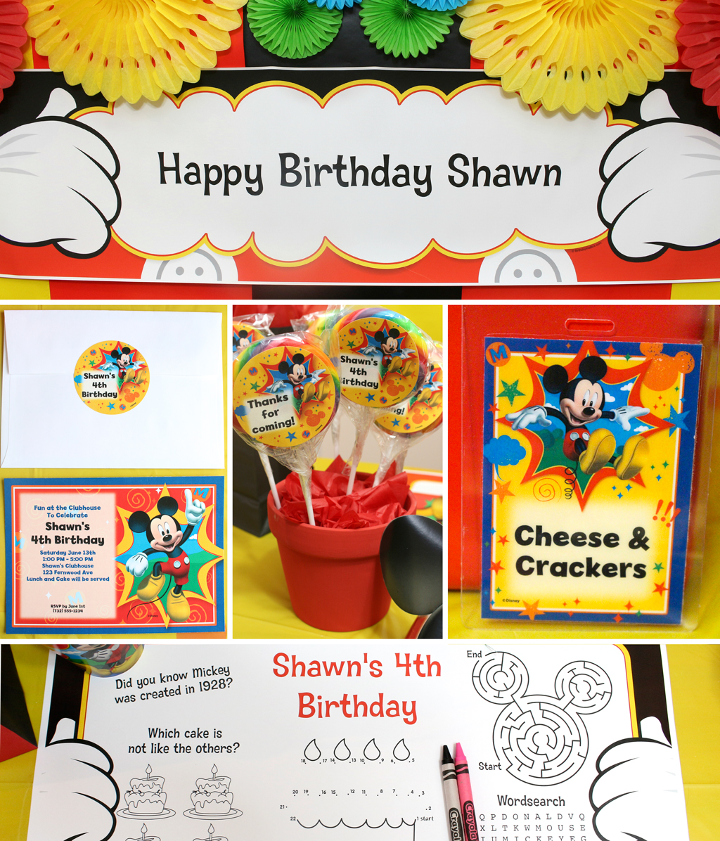 Ideas For Mickey Minnie Party Favors