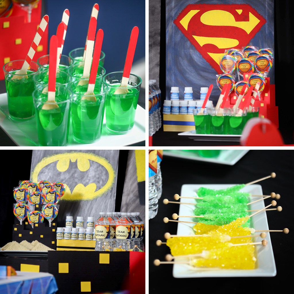 BATMAN VS SUPERMAN Food and Snacks