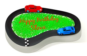 Race Car Cake Design