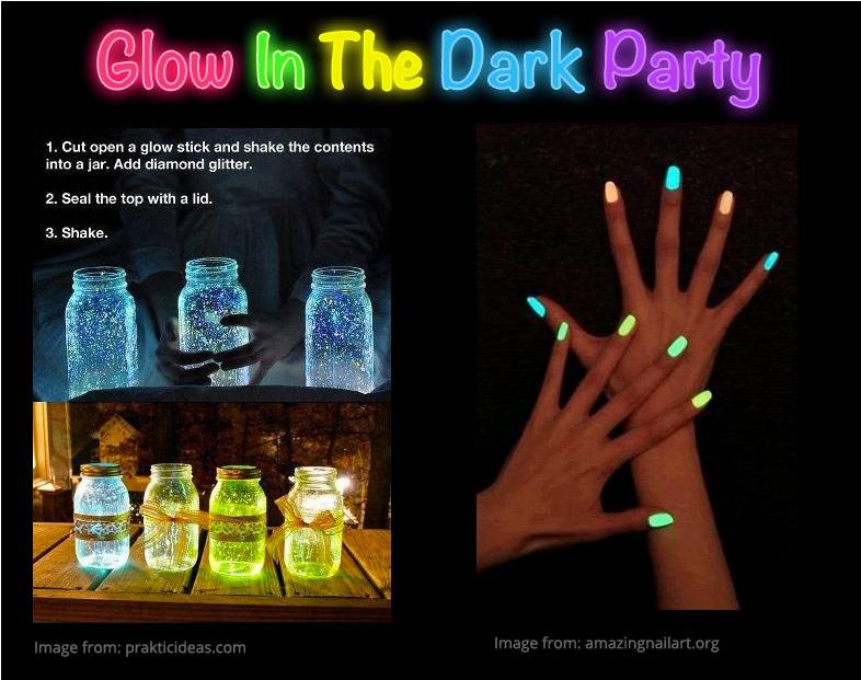 Glow In The Dark Themed Slumber Party