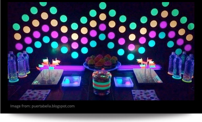 Glow In The Dark Decoration Ideas sleepover party ideas | slumber party ideas at birthday in a box