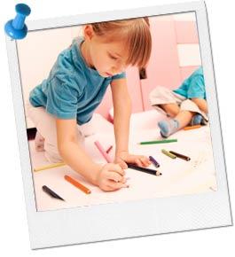 Photo of Child Coloring