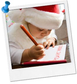 photo of child writing a letter to santa claus