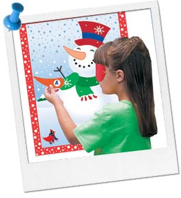 Photo of Child Playing Snowman Pin Game
