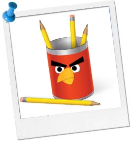 Picture of an Angry Birds Can Craft.