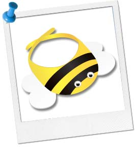 Bumble Bee Visor Craft