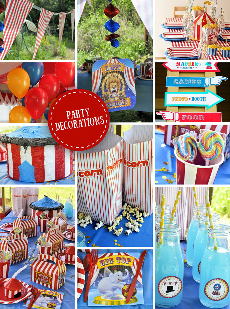 Carnival theme decorations iron blog for Decoration ideas 7th birthday party