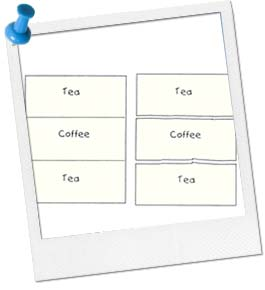 coffee or tea cards