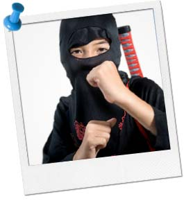 Pin the Black Belt on the Ninja