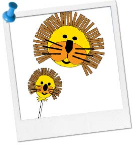 Lion Face Craft Template