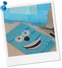Monsters Inc Paper Bag Puppet