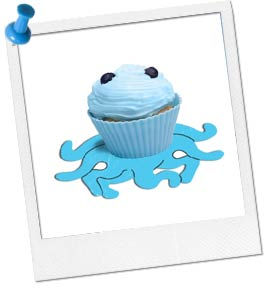Photo of Cupcake on Paper Octopus Cut-Out