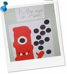 Pin The Eye On Muno Game