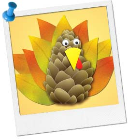 Pinecone & Leaf Turkey